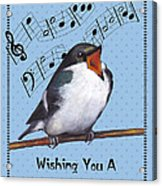 Singing Bird Birthday Card Acrylic Print by Joyce Geleynse