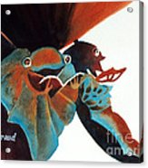 Singing Frog Duet 2 Acrylic Print by Kathy Braud