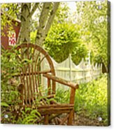 Sit For A While Acrylic Print by Margie Hurwich