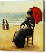 Sitting By The Sea Acrylic Print by Edouard Bisson