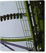 Six Flags Great Adventure - Medusa Roller Coaster - 12122 Acrylic Print by DC Photographer