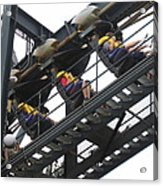 Six Flags Great Adventure - Medusa Roller Coaster - 12123 Acrylic Print by DC Photographer
