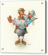 Skating Ducks 13 Acrylic Print by Kestutis Kasparavicius