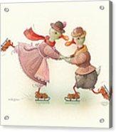 Skating Ducks 3 Acrylic Print by Kestutis Kasparavicius