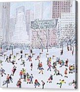 Skating Rink Central Park New York Acrylic Print by Judy Joel