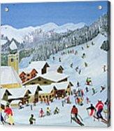 Ski Whizzz Acrylic Print by Judy Joel