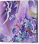 Skiyu Purple Robe Crop Acrylic Print by Haruyo Morita