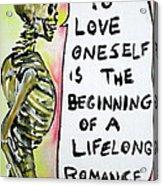 Skull Quoting Oscar Wilde.9 Acrylic Print by Fabrizio Cassetta