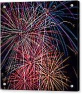Sky Full Of Fireworks Acrylic Print by Garry Gay