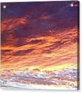 Sky On Fire Acrylic Print by Les Cunliffe
