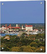 Skyline Of St Augustine Florida Acrylic Print by Christine Till