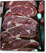 Slabs Of Raw Meat - 5d20691 Acrylic Print by Wingsdomain Art and Photography