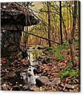 Slate Bottom Creek Acrylic Print by Benjamin Yeager