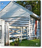 Slave Huts On Southern Farm Acrylic Print by Brian Jannsen