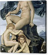 Sleep And Death The Children Of The Night Acrylic Print by Evelyn De Morgan