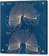 Slinky Toy Blueprint Acrylic Print by Edward Fielding