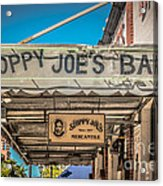 Sloppy Joe's Bar Canopy Key West - Hdr Style Acrylic Print by Ian Monk