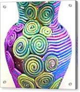 Small Filigree Vase Acrylic Print by Alene Sirott-Cope
