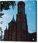 Smithsonian Castle Dawn Acrylic Print by Steve Gadomski