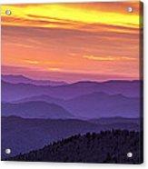 Smoky Sunset Panorama Acrylic Print by Andrew Soundarajan