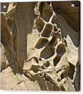 Snadstone Rock Formations In Big Sur Acrylic Print by Artist and Photographer Laura Wrede