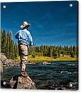 Snake River Cast Acrylic Print by Ron White