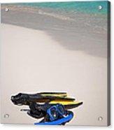 Snorkeling Gear. Acrylic Print by Fernando Barozza