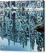 Snow Mirror Acrylic Print by Eric Glaser