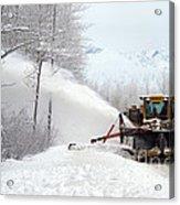 Snow Plow Acrylic Print by Mark Newman