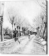 Snow Scene At Etten Acrylic Print by Vincent van Gogh