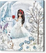 Snow White Acrylic Print by Mo T