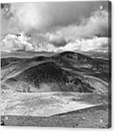 Snowdonia Panorama In Black And White Acrylic Print by Jane Rix