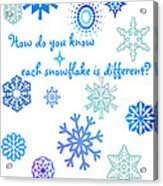 Snowflakes Acrylic Print by Methune Hively