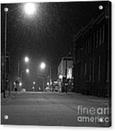 Snowing On W. Fourth St. Acrylic Print by Julie Dant