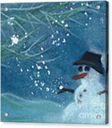 Snowman By Jrr Acrylic Print by First Star Art