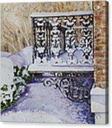 Snowy Ironwork Acrylic Print by Patsy Sharpe