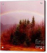 Soft Cape Breton Rainbow Acrylic Print by John Malone
