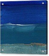 Soft Crashing Waves- Abstract Landscape Acrylic Print by Linda Woods