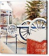 Softly Christmas Snow Acrylic Print by Kip DeVore
