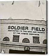 Soldier Field Acrylic Print by Jessie Gould