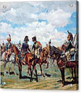 Soldiers On Horseback Acrylic Print by Jean-Louis Ernest Meissonier