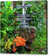 Some Other Place Acrylic Print by Mel Steinhauer