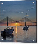 Something About A Sunrise Acrylic Print by Bill Cannon