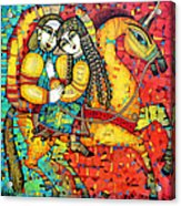 Sonata For Two And Unicorn Acrylic Print by Albena Vatcheva