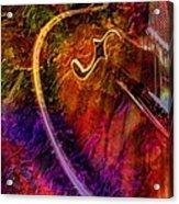 Song And Dance Digital Guitar Art By Steven Langston Acrylic Print by Steven Lebron Langston