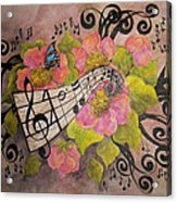 Song Of My Heart And Soul Acrylic Print by Meldra Driscoll