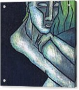 Sorrow Acrylic Print by Kamil Swiatek