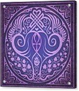 Soul Mates - Purple Acrylic Print by Cristina McAllister