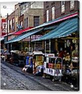 South Philly Italian Market Acrylic Print by Bill Cannon