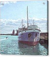 Southampton Docks Ss Shieldhall Ship Acrylic Print by Martin Davey